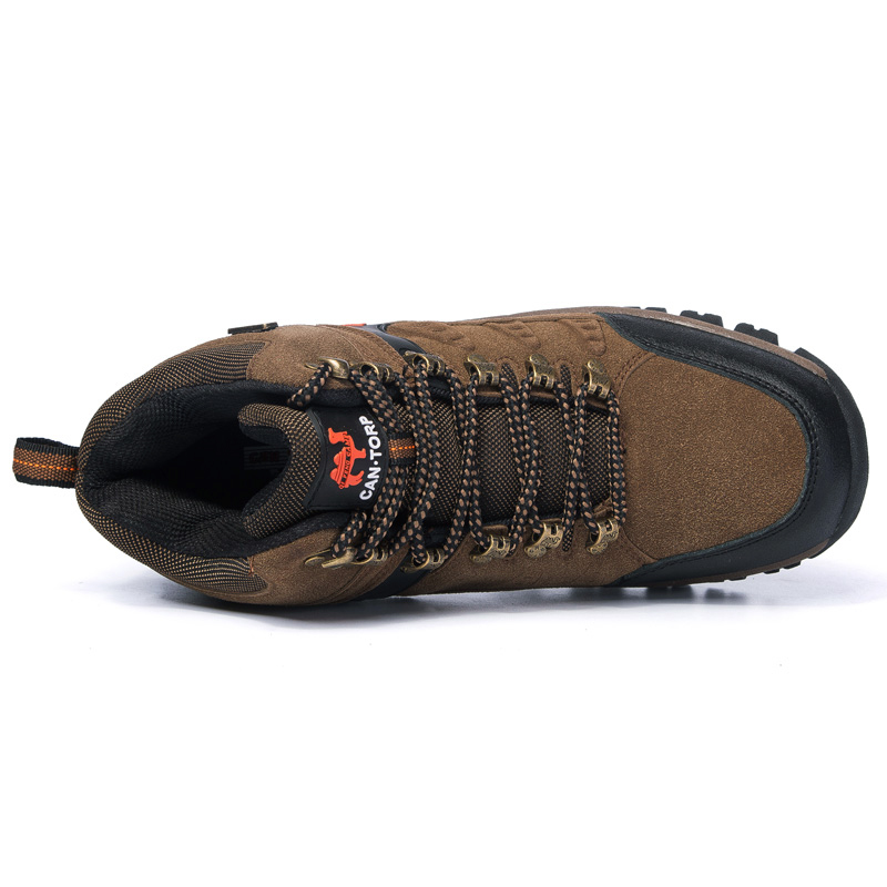 Image 5 - Trendy Classic Men Ankle Boots Wear Resisting Hiking Shoes Cow  Suede Men Boot Comfortable Walking Sneaker For Man Tactical ShoesBasic  Boots