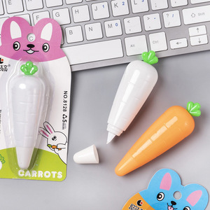1X 6 Meters Long Adorable Cute Carrot Vegetable Correction Tape School Office Supply Student Stationery Kids Gift Candy Color(China)