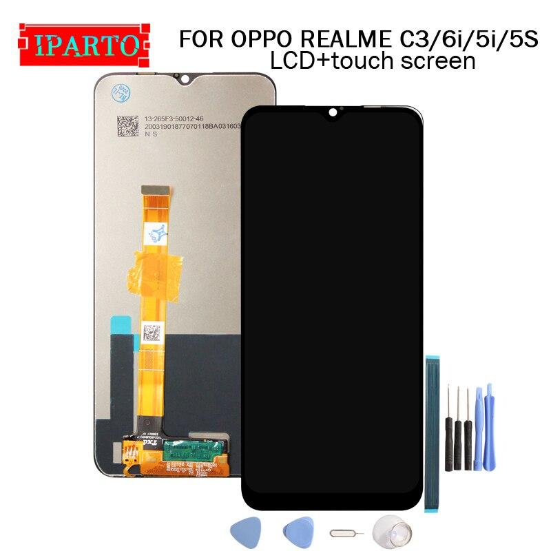 6,5 дюймов для OPPO REALME C3 ЖК-дисплей + кодирующий преобразователь сенсорного экрана в сборе 100% Оригинальный Новый ЖК-дисплей + сенсорный дигитай...