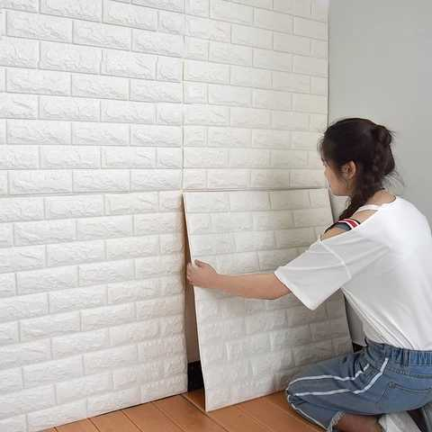 70cmX77cm PE Form 3D Wand Aufkleber Wohnzimmer Ziegel Muster Wand Papier Stickie Kinder Schlafzimmer Wohnkultur Selbst klebe Tapete