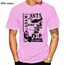 Adam And The Ants Punk Poster T-shirt , Color White Mens T Shirts Fashion 2020 Clothing