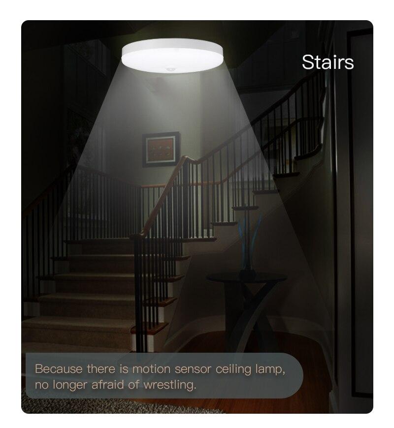 Hd09b52606b2f4086a9bb3054134ce201z Led Ceiling Light Motion Sensor Ceiling Lamp 220V LED Round Lamps Kitchen Lamp Surface Night Lights For Indoor Lighting