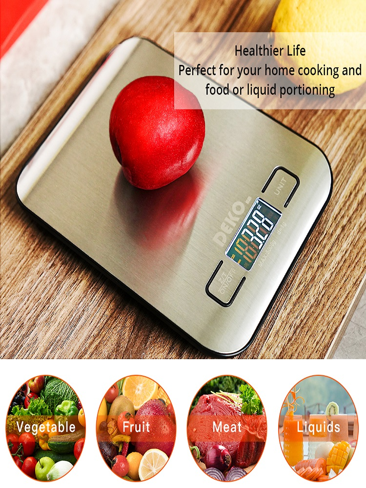 Kitchen-Scale Timer Measuring-Tools Household-Weight-Balance Digital Electronic Portable