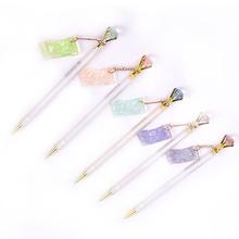 Hot 1pc śliczne diament ołówek automatyczny Kawaii cukierki wisiorek ołówek automatyczny dla dzieci dziewczyny szkolne materiały biurowe tanie tanio MANLANG CN (pochodzenie)