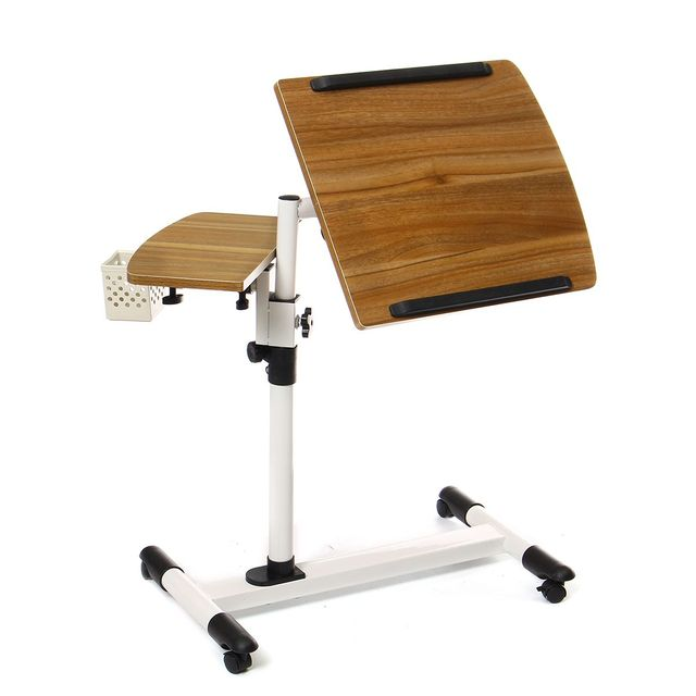 Adjustable Angle And Height Rolling Desk Stand  2