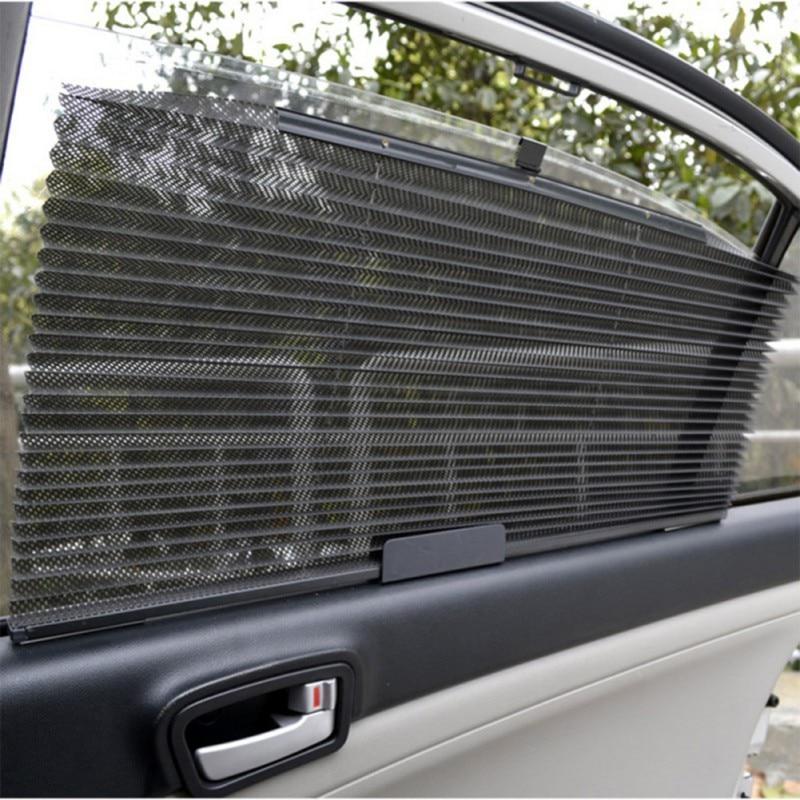 Авто автоматический выдвижной зонтик для автомобиля, боковое окно, сетка, солнцезащитный козырек для автомобиля, солнцезащитный козырек, занавески для автомобилей 60*46 см