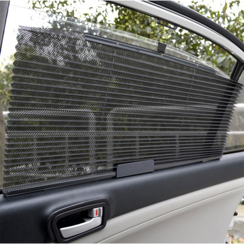 Auto automatic retractable parasol car Side Window mesh sun shade car sunshade sun protector curtains for cars 60*46cm|Side Window Sunshades|Automobiles & Motorcycles - title=