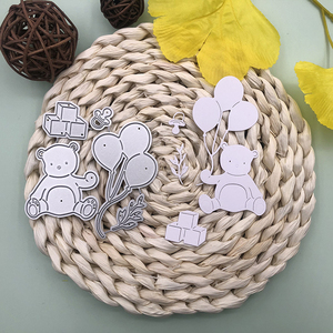 Bunnymoon Baby Bear Metal Cutting Dies Stencils for DIY Scrapbooking/photo Album stamps Decorative Embossing DIY Paper Card(China)