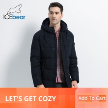 ICEbear 2019 New Winter Mens Jacket High Quality Coat Thick Warm Male Cotton Clothing Brand Man Apparel MWD17933I