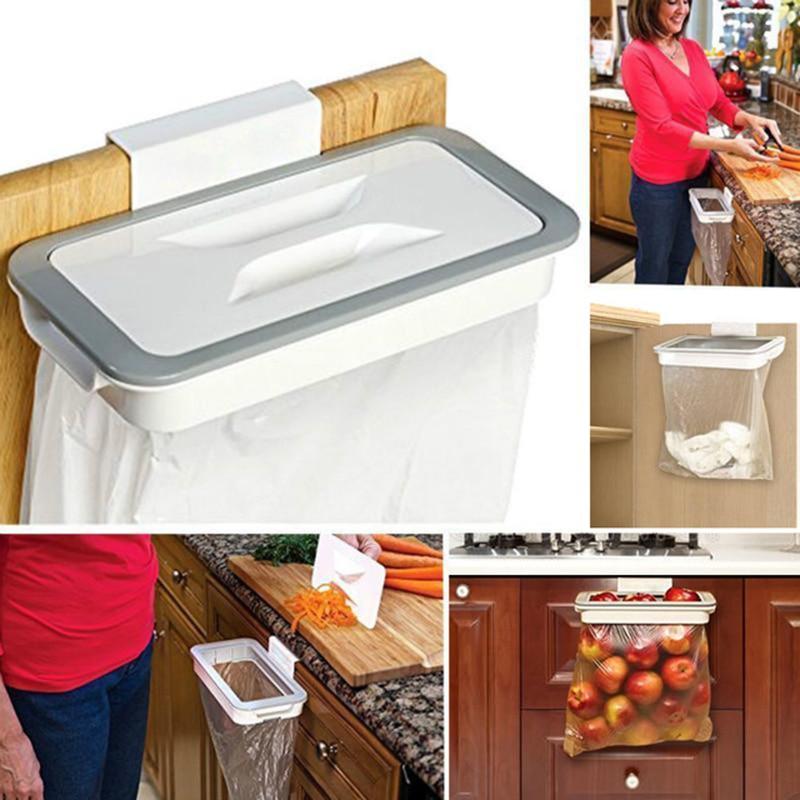Kitchen Accessories Trash Bag Storage Rack Cupboard Kitchen Bathroom Hanging Holders Trash Toys Supplies Food Containers Kitchen