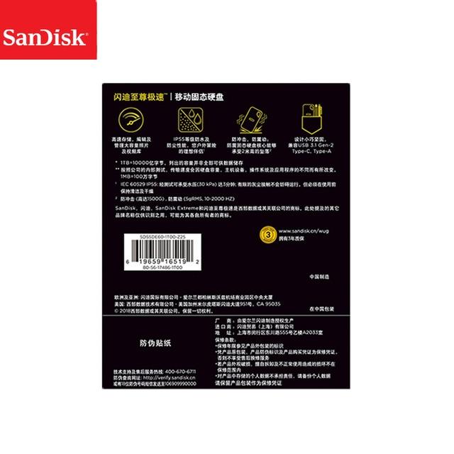 SanDisk Portable External SSD 2TB 1TB 500GB  550M External Hard Drive SSD USB 3.1 HD SSD Hard Drive Solid State Disk for Laptop 5