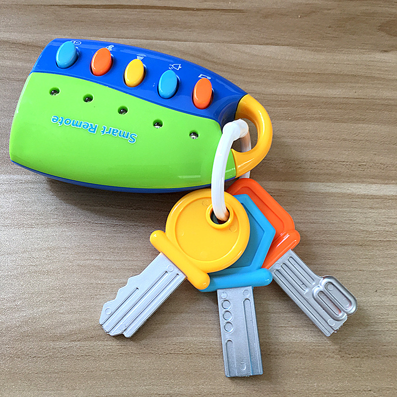 Baby Toy Musical Car Key Toy Vocal Smart Remote Voices Pretend Play Education Flash music Cars educational Toys For Kids Boy(China)