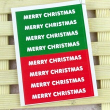 80 Pcs/lot Green Red Simple Merry Christmas Series Gift Seal Stickers Day DIY Note Labels/Baking