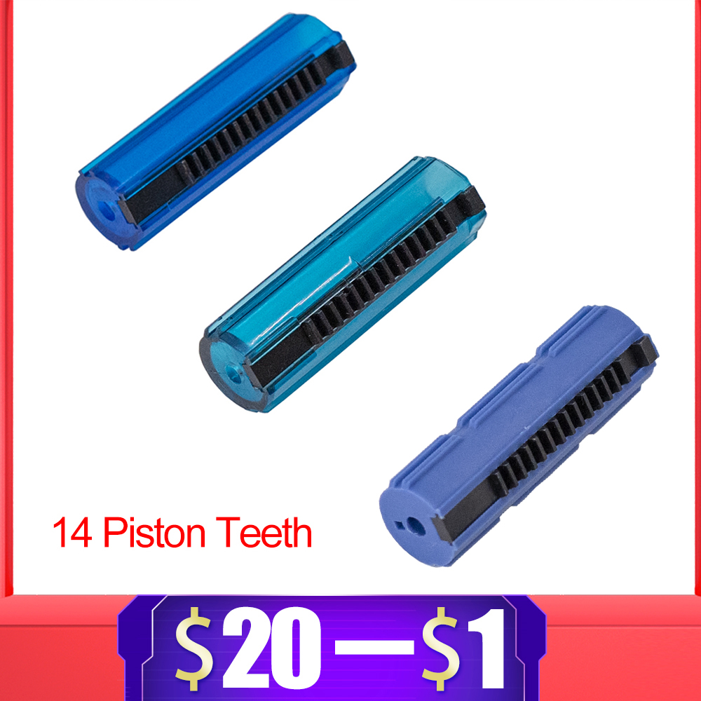 Hot Sale Blue Fibre Reinforced Full Steel 14 Teeth Piston For Airsoft M4 AK G36 MP5 Gearbox Ver 2/3 AEG Gun Paintball Accessory