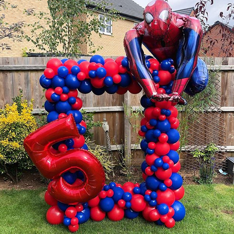<font><b>50</b></font> Pcs/lots Spiderman Balloon Hero Birthday Party Decoration Adult <font><b>Globos</b></font> De <font><b>Cumplea</b></font> <font><b>Os</b></font> Children's Day Gift image