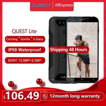 """Cubot Quest Lite IP68 Sport Telefono Cellulare Robusto MT6761 5.0 """"Android 9.0 Torta di 3000mAh 3GB + 32GB smartphone 4G LTE Dual Macchina Fotografica di Tipo-C 1"""