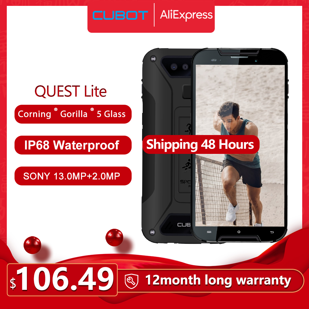Cubot Quest Lite IP68 Sports Rugged Phone MT6761 5.0