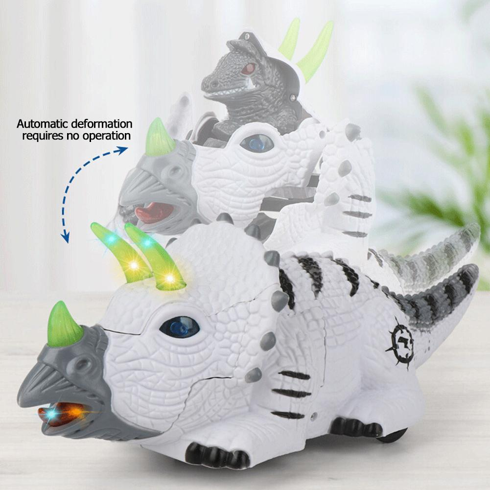Automatic Deformation  Automatic Walking Dinosaur Children Toys Vocal Glow Lighting Music Animal Model Electronic Pets