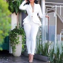 2020 Autumn Blazer Set Women Ladies blazer Ruffle Women Suits