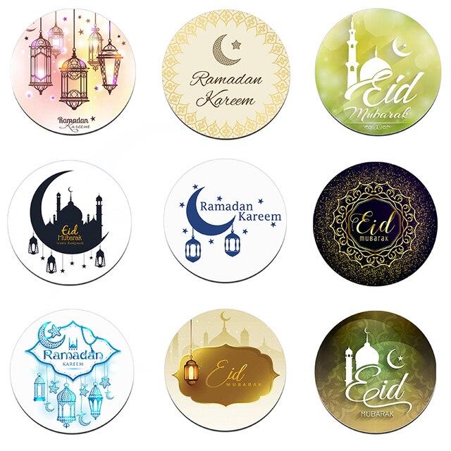24/48pcs EID Mubarak Decor Stickers Ramadan Decoration Eid al fitr Islam Muslim Festival Favor Gifts Labels HAJJ Ramadan Kareem