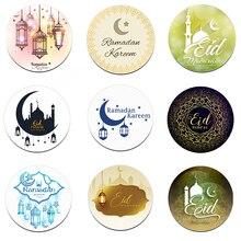 Pegatinas decorativas EID Mubarak, Decoración de Ramadán Eid al fitr, Festival islámico musulmán, recuerdo de regalos, etiquetas HAJJ Ramadán Kareem, 24/48 Uds.