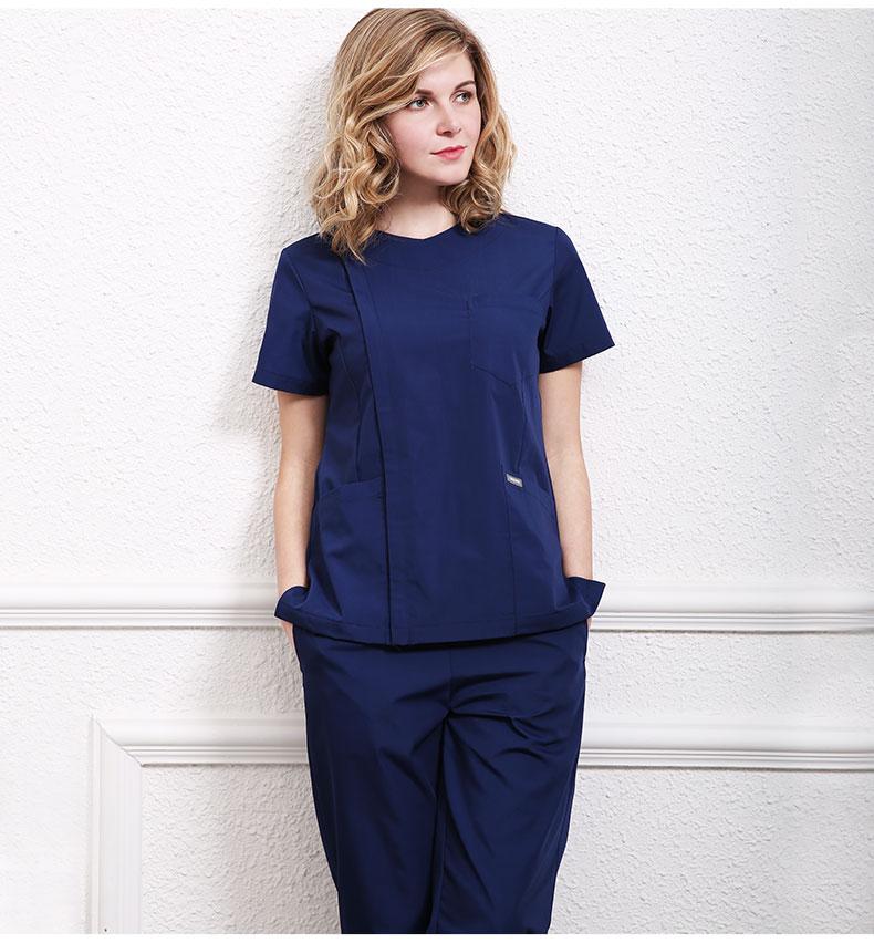 Women Medical Uniforms Doctor Spring/Summer Short Sleeved Scrub Sets Nurse Uniform Beauty Salon Work Wear