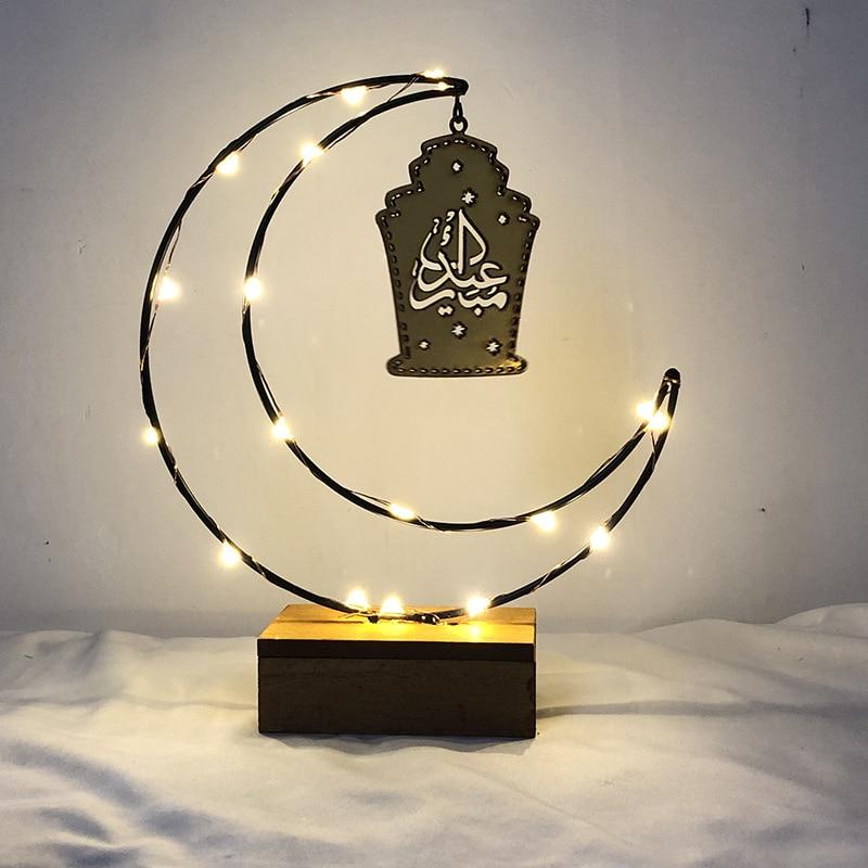 2020 New LED Wooden DIY Lamp Festival Palace Decorative Light For Muslim Islam Eid Mubarak Ramadan Night Lamp Night Lights