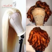 613 парик, бразильские прямые волосы, 4*4, парик на шнуровке с детскими волосами, Arabella, Remy человеческие волосы, блонд, парики на шнуровке
