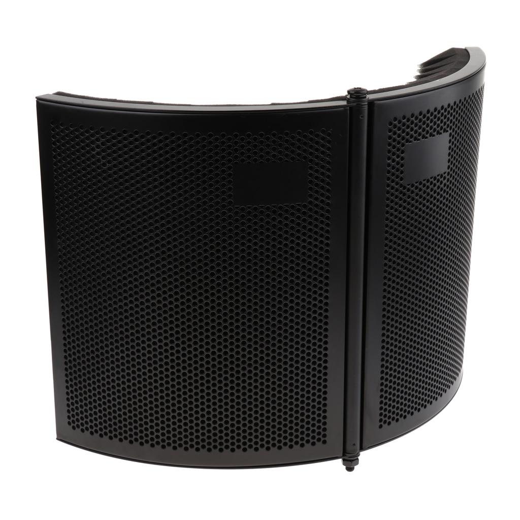 Bouclier d'isolement de Microphone pliable réglable Studio panneau d'isolement de Microphone pour l'équipement de Microphone à condensateur