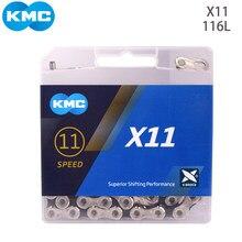KMC Bicicleta Cadeia MTB Prata Dourada Z8.3 X8 X9 Z9 X10 X11 X12 116L 118L 126Link Road Bike 6 7 8 9 10 11 12 Cadeias de Velocidade Original