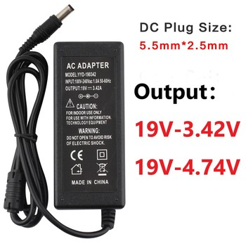 19V 3.42A 4.74A Power Supply Adapter Laptop Charger AC Adapter Power Supply DC 19 V With EU Plug Charger Notebook Transformers original power adapter spa040a19w2 for nvidia shield tv pro media server ac adapter power supply 19v 2 1a