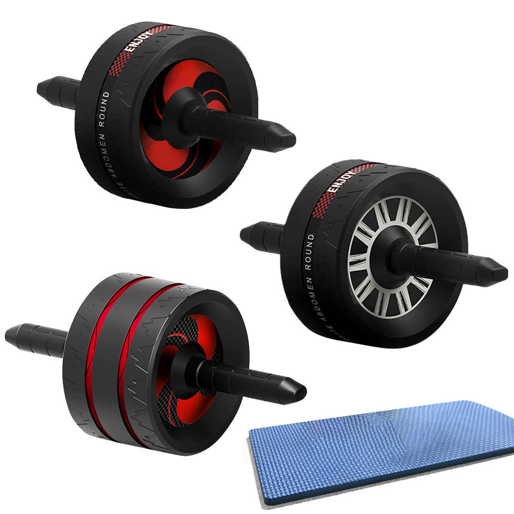 Abdominal Wheel Ab Roller Wheel Non-Slip Rubber Grip For Arm Waist Leg Exercise Gym Home Fitness Equipment Trainer For Men Women image