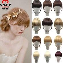 Синтетический зажим для волос MANWEI, термостойкие волосы, опрятные накладные волосы спереди, тонкая окантовка, заколка для челки, для женщин, заколка для челки