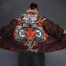 Kimono homem japonês yukata homem haori masculino japonês quimono tradicional samurai traje yukatas quimono japonês streetwear kk2030