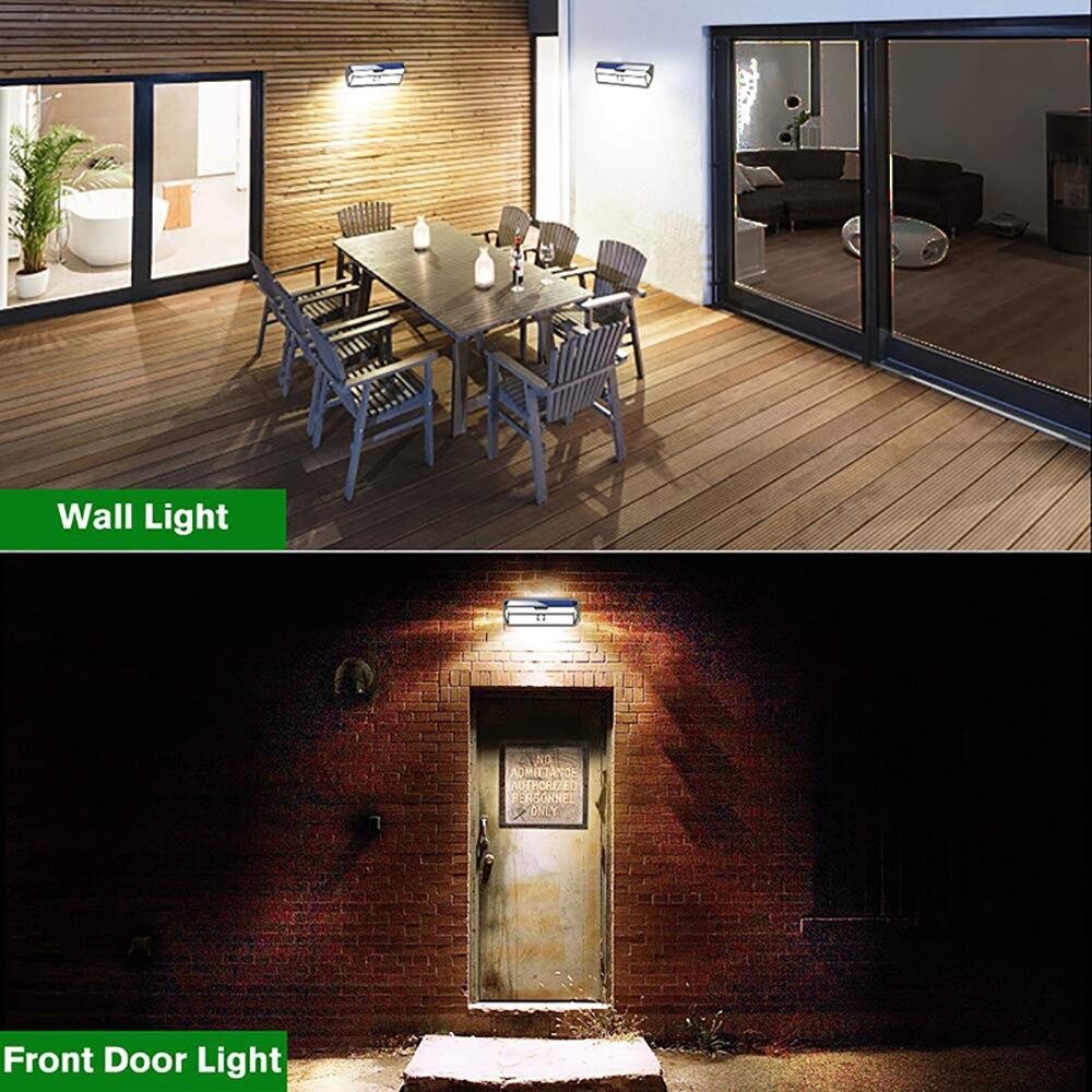 12 Pack Mpow 132 LED Solar Light PIR Motion Sensor Wall Lamp White Outdoor Garden Light IP65 Waterproof For Garden Decoration (4)