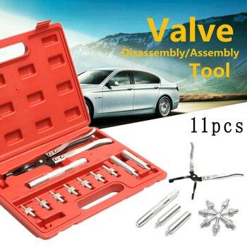 Set Oil Seal Pliers Car 11Pcs Valve Stem Hand Tools Long Drive Handle Accessories
