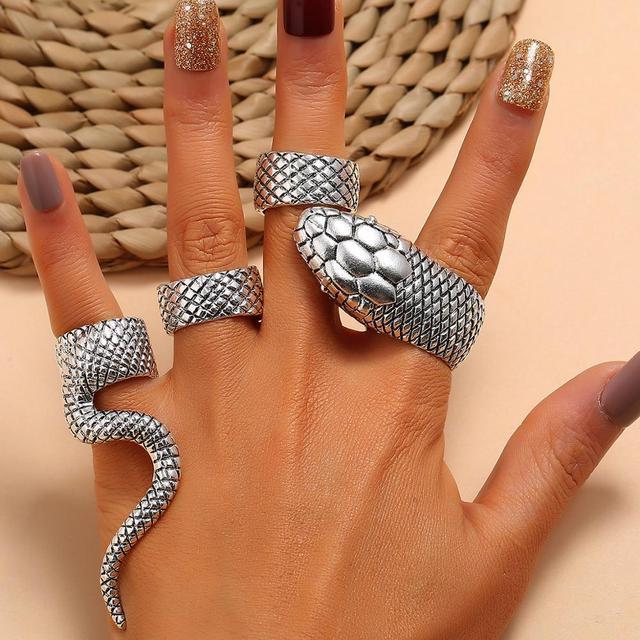 Bague serpent femme