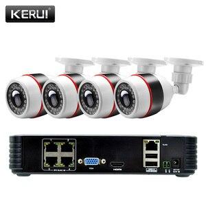 Image 2 - KERUI 4CH 4 ช่อง POE NVR 1080P Full HD WiFi IP กล้อง NVR เครื่องบันทึกวิดีโอชุดชุดความปลอดภัย ONVIF ระบบกล้องวงจรปิด