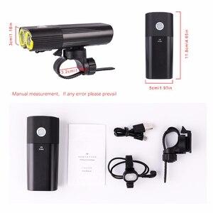 Image 3 - Bike Professionelle IPX6 Wasserdichte 1600 Lumen Licht Radfahren Power Bank Fahrrad Zubehör USB Aufladbare Taschenlampe Lampe