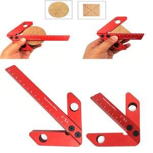 Centro de carpintería garra 45/90 grados ángulo recto línea calibre cuadrado Centro garra madera redondo corazón regla manómetro