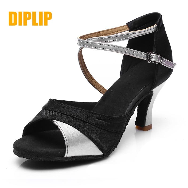 DIPLIP For Women Hot Sales Brand New Latin Dance Shoes Heeled Tango Ballroom Girls Salsa Soft Ballroom Dance Dancing Shoes