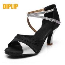 DIPLIP للنساء حار مبيعات العلامة التجارية الجديدة اللاتينية الرقص أحذية الكعب التانغو قاعة الرقص الفتيات السالسا لينة قاعة الرقص أحذية رقص