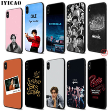 IYICAO Jughead Jones Riverdale Soft Black Silicone Case for iPhone 11 Pro Xr Xs Max X or 10 8 7 6 6S Plus 5 5S SE