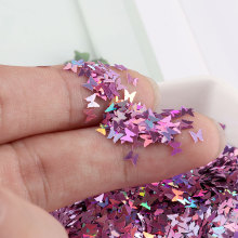 Ultrathin 3mm Butterfly Sequins Laser Glitter Nail Sequin Paillettes Eo-Friendly PET Sequin for Nails Art Wedding Decoration 10g