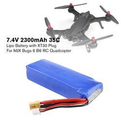 Nowy RC 7.4V 2300mAh 2S 35C li po akumulator z wtyczką XT30 części zamienne akcesoria do MJX Bugs3/6 B3/B6 RC Drone Części i akcesoria    -