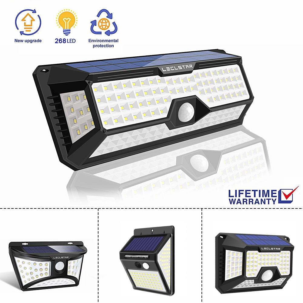 LED Night Light With Motion Sensor Solar Powered Night Lamp Outdoor Waterproof Garden Road Street Wall Lamp Luminaria Nightlight