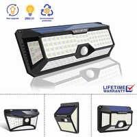 Luz conduzida da noite com sensor de movimento movido a energia solar noite lâmpada ao ar livre à prova dwaterproof água jardim estrada rua lâmpada de parede luminaria nightlight