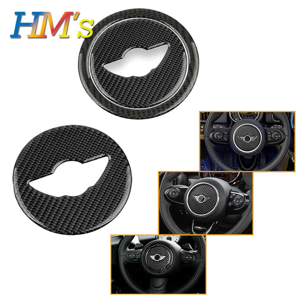 Para Acessórios de MINI Cooper Clubman Compatriota F54 F55 F56 F57 F60 R55 R56 R57 R58 R60 R61 Volante De Fibra De Carbono Adesivo