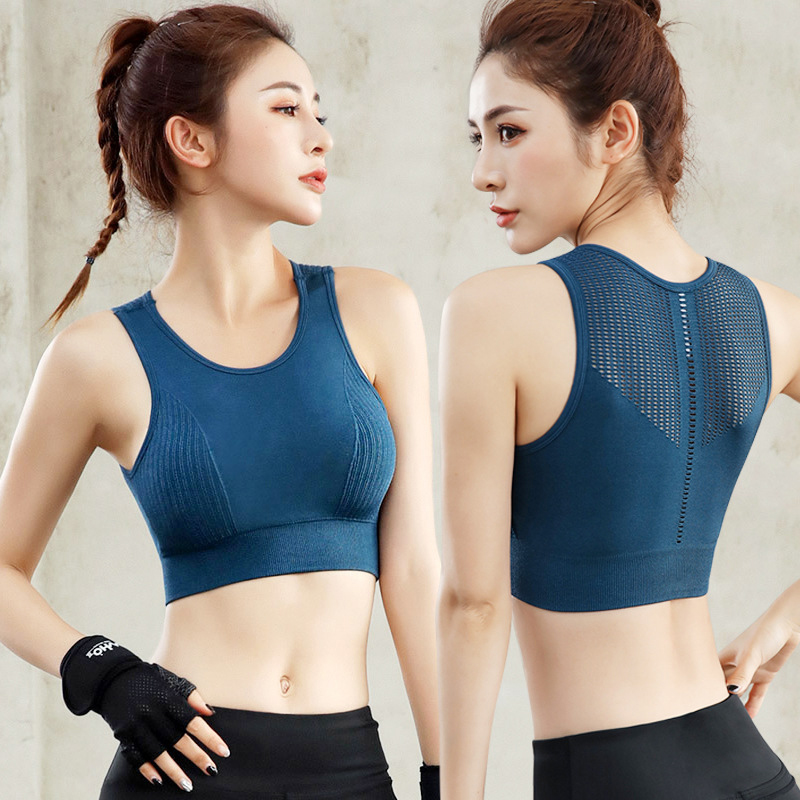 Shockproof Hollow Breathable Sports Bra Seamless Push Up Fitness Yoga Bra Quick Dry Padded Fitness Running Yoga Sport Tops