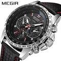 MEGIR мужские часы  Топ бренд  Роскошные Кварцевые часы  мужские модные светящиеся армейские водонепроницаемые мужские наручные часы  Relogio ...
